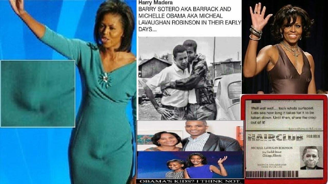 「オバマ」元大統領の妻「ミシェル」。実は『男』だった事が判明してしまう。